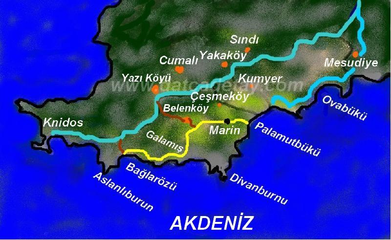 bağlarözü palamutbükü yürüyüş haritası