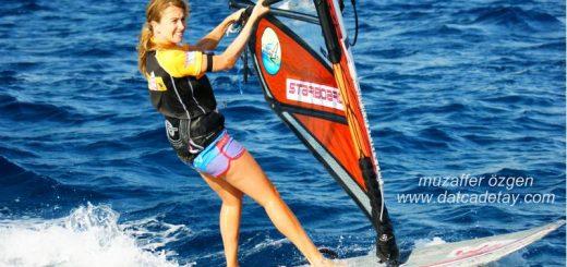datça windsurf sporcular