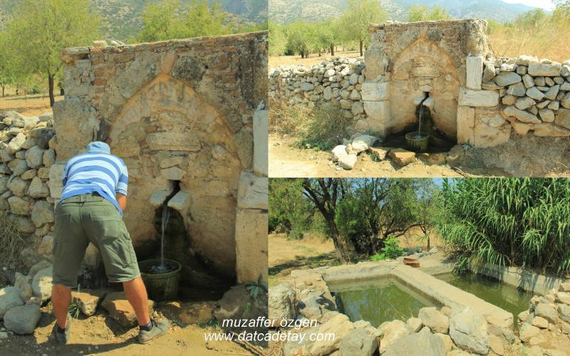yazı köyünde eski çeşme