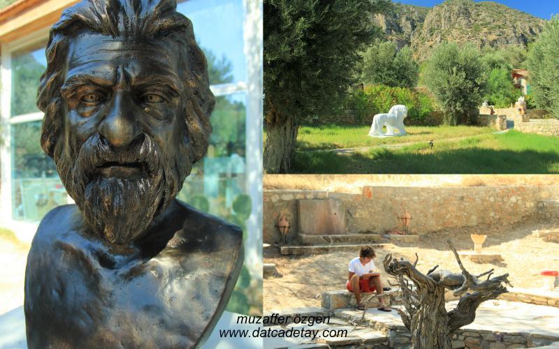 can yücel'in büstü knidos akademi bahçesi