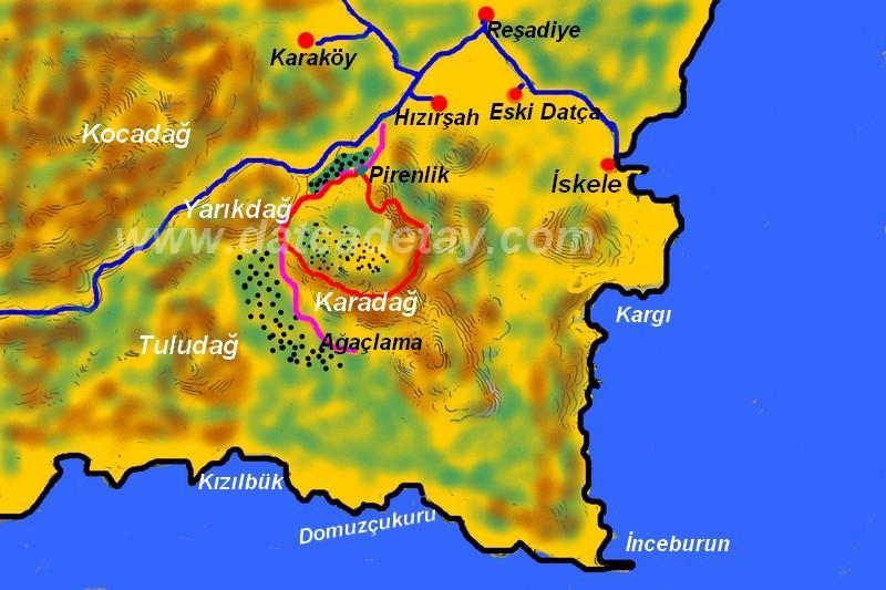 hızırşah karadağ www haritası