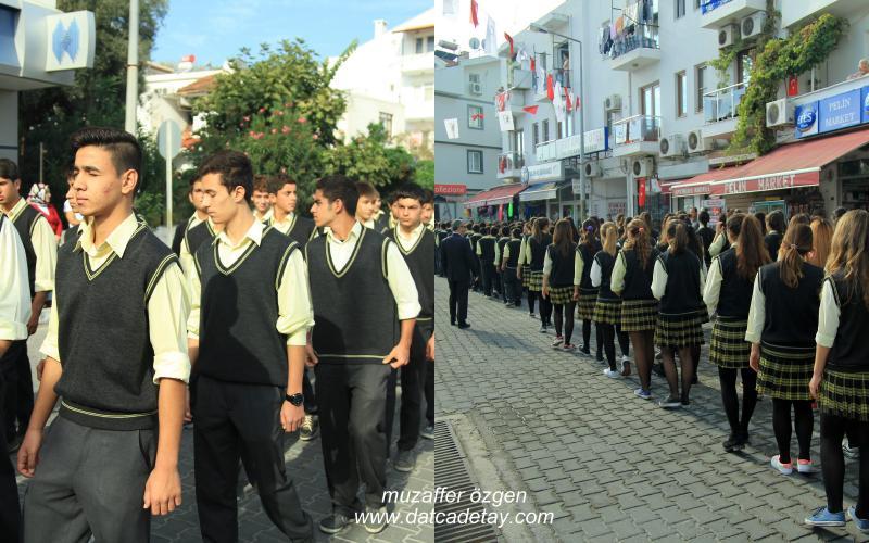 datça'da Cumhuriyet bayramı kutlamaları