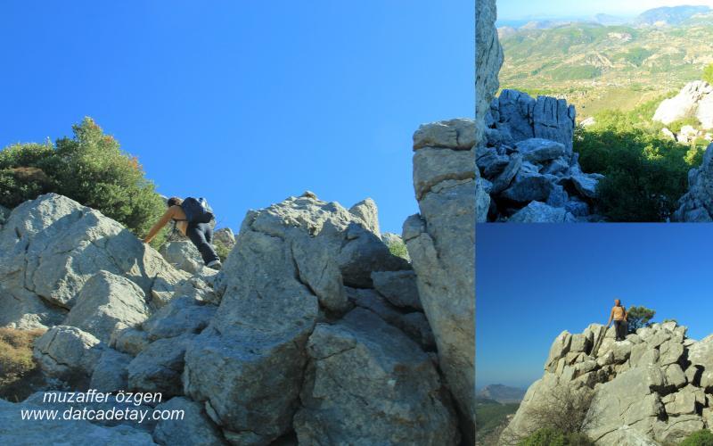 dağlarda kaya yürüyüşü