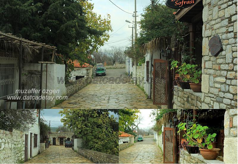 eski datça sokakları