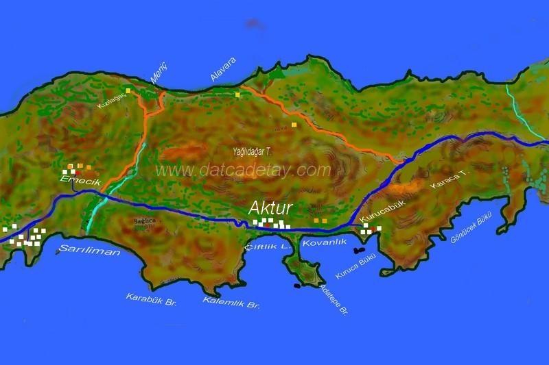 datça aktur haritası