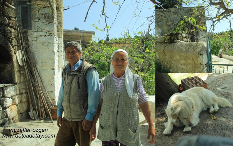 datça köy evinde köylülerle