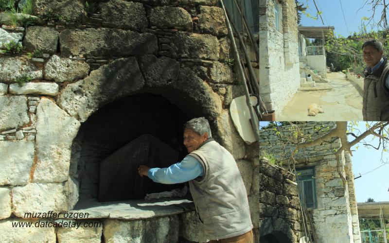 datça sındı köyünde ekmek fırını