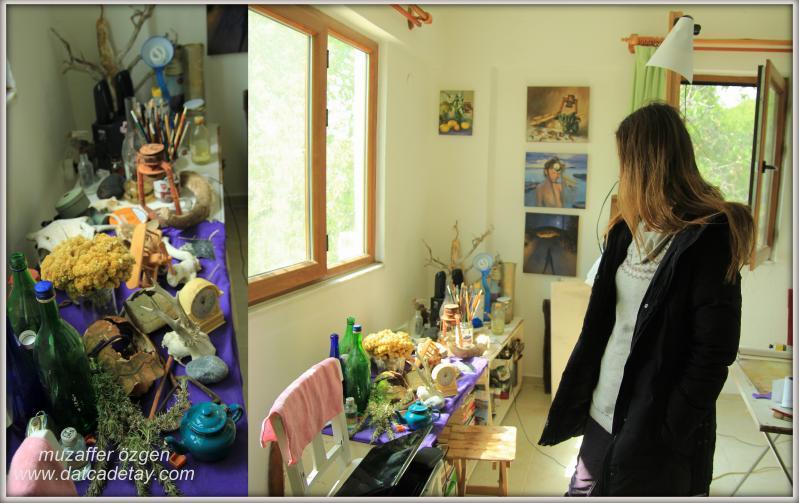 ressam ve atölye ışığı