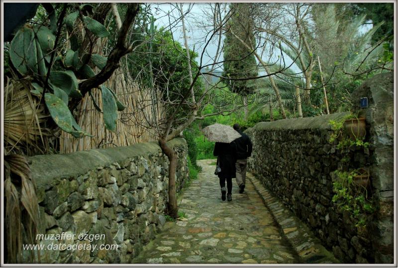 eski datça'da yağmur