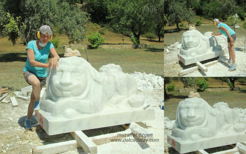 knidos akademi heykel çalışması