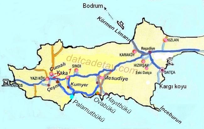 palamutbükü haritası