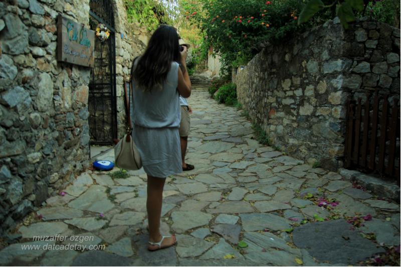 eski datça sokaklarında gezi