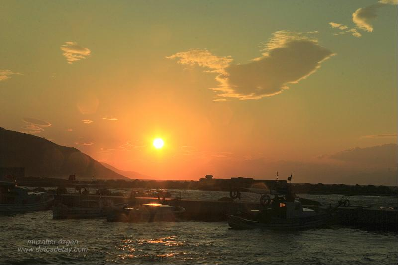 karaköy'de gün batımı