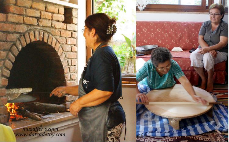 evde yufka ekmek yapımı