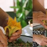 kabak çiçeği dolması yapımı