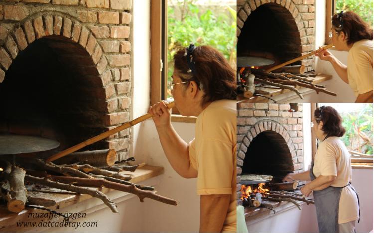 ekmek yapımında ocağın yakılması