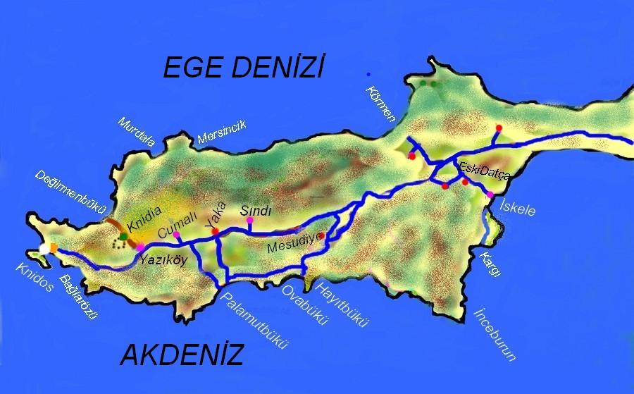 knidia eko çiftlik haritası