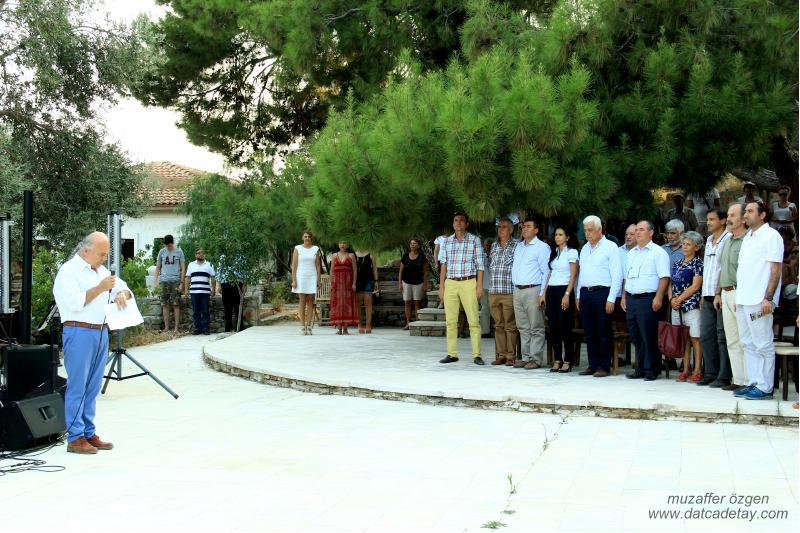 knidos akademi saygı duruşu