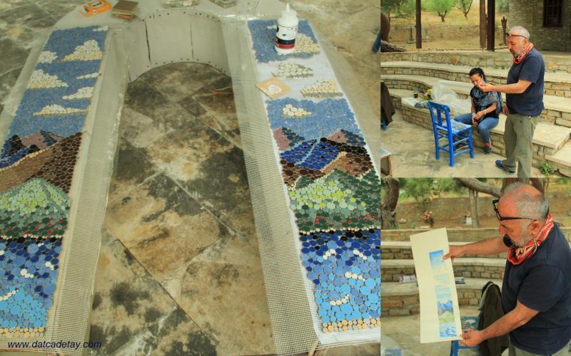 knidos akademi mozaik çalışması