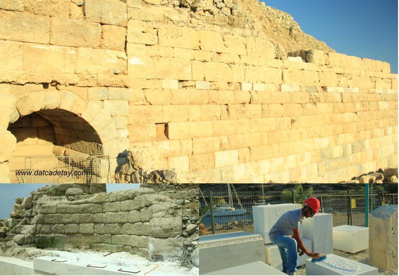 knidos tiyatrosu'nda restorasyon çalışması