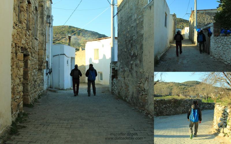 datça yazıköy sokakları