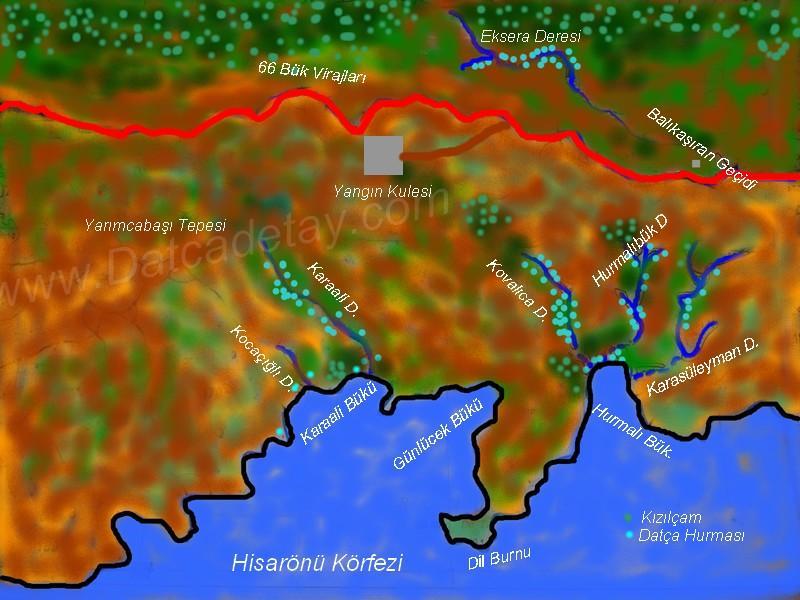 hurmalıbük dereleri haritası