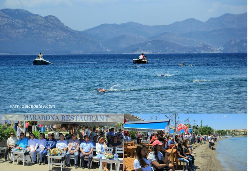 datça liseler arası yüzme yarışları