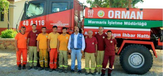 datça orman yangın işçileri