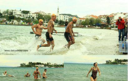 12. Datça Açık Deniz Kış Yüzme Maratonu'nda Kulaçlar Anlamlı Bir Tema İçin Atıldı.
