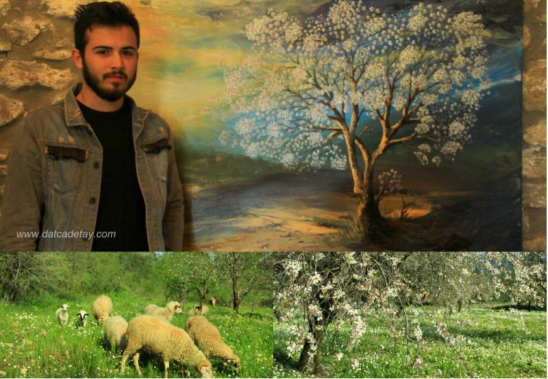 knidos akademi badem çiçeği sergisi