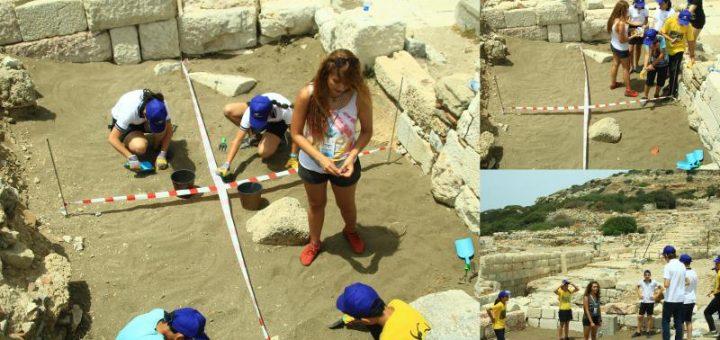 çocuk arkeologlar knidos'ta kazı yaptı