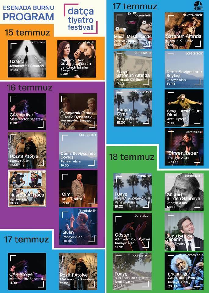 datça tiyatro festivali programı
