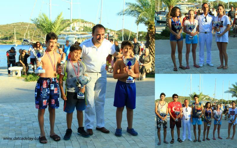 yüzme yarışları ödül töreni