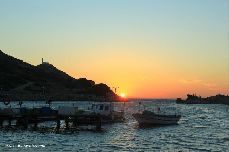 knidos'ta gün batımı