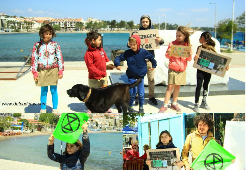 iklim aktivisti atlas Datça'da