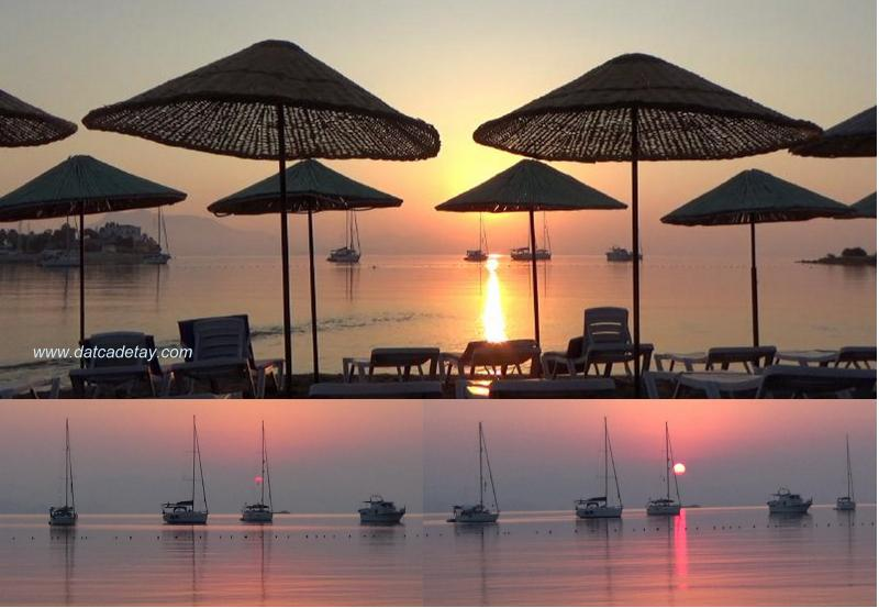 datça taşlık plajı'nda sabah